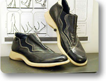 Prototype of the shoes with A.D.S. system